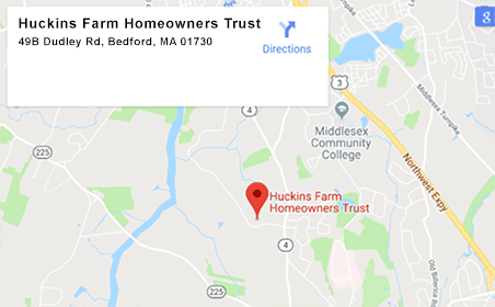Google map for Huckins Farm Homeowners Trust