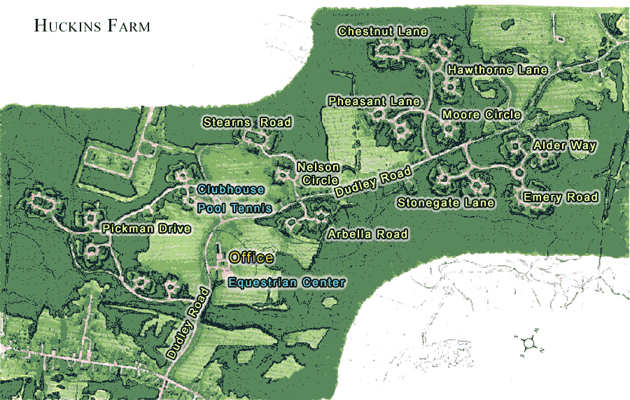 Huckins farm bedford ma 01730 site plan and map Farm plan