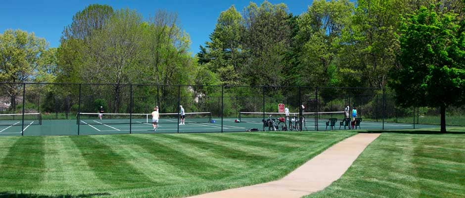 Tennis courts at Huckins Farm, Bedford, MA